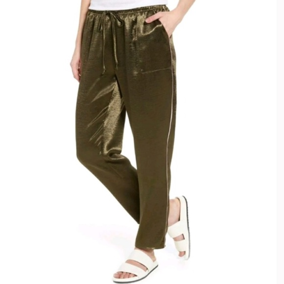 love, Fire Pants - Love, Fire Satin Track Pants NWT